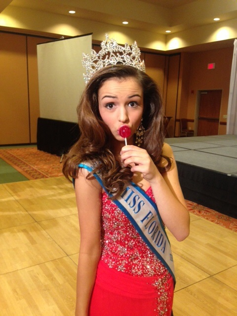 Madison Raley the 2014 Florida USA Ambassador Teen loves Original Gourmet lollipops