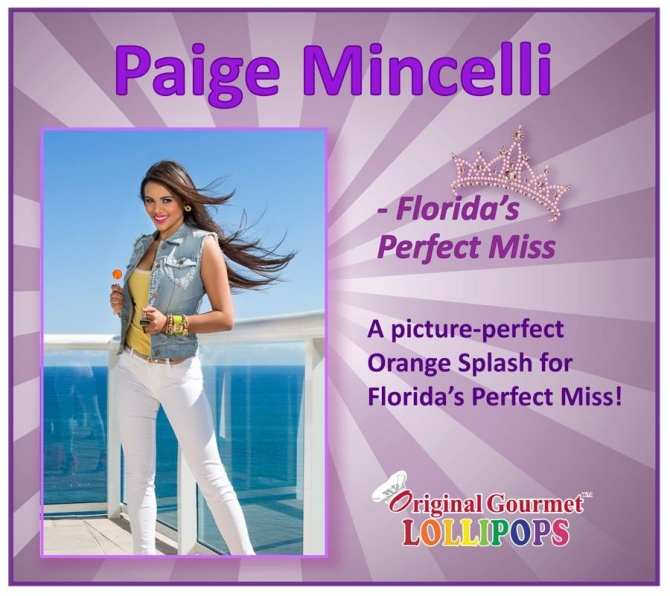 Florida's Perfect Miss loves Orange Splash - Original Gourmet lollipop