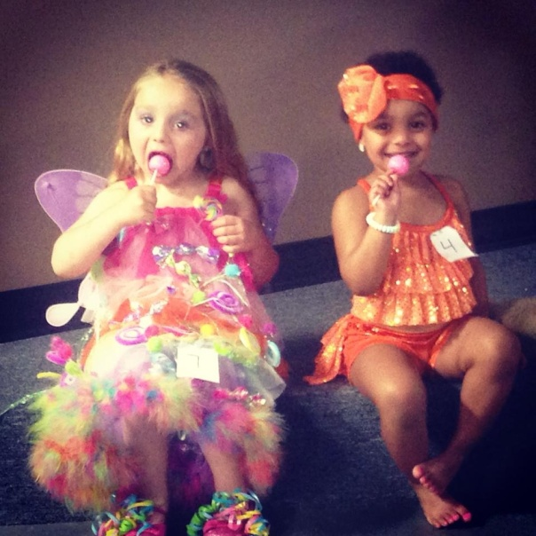 Overall Best Personality MaKiya and Baby Grand Supreme Miss Aaliyah enjoying their Original Gourmet lollipops