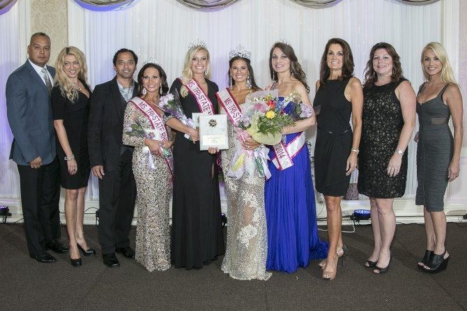 Ms. Tri-State Pageant - winners and judges. (I'm right 3rd in)
