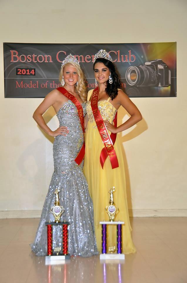 Boston Camera Club 2014 Model of the Year Competition - Left, Teen winner Right,  Karolina Dzieminski )  Adult winner( Sophia Grayson ).