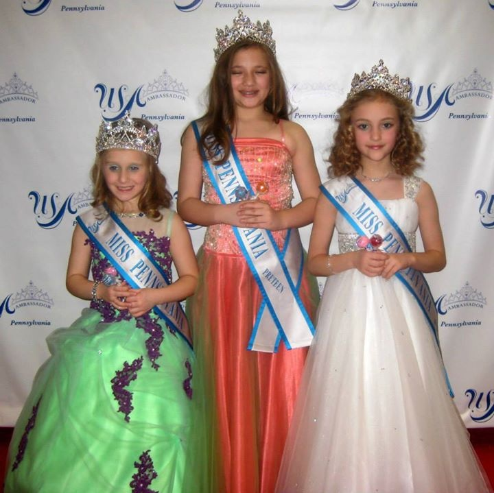 Pennsylvania U.S.A. Ambassador winners are Little Miss, Kinsley Palilla, our Preteen, Zoey Rei Dunkle and our Jr. Preteen, Mariah Beary